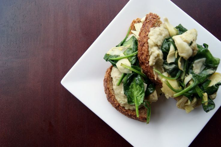 YUM! Artichoke, spinach and white bean sandwich. Naturally vegan and ...