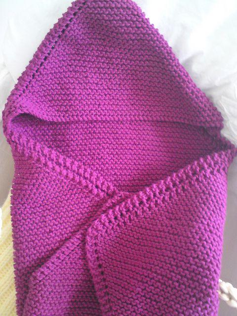 Newborn Knitting Patterns Free For Babies : hooded blanket Knitting for baby Jonas Pinterest