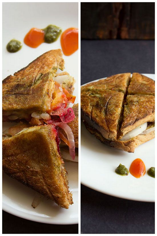 Indian Street Food - bombay-veg-toast-sandwich-recipe