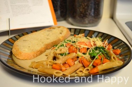 Penne with Balsamic Sweet Potatoes, Arugula and Parmesan | Foodie ...