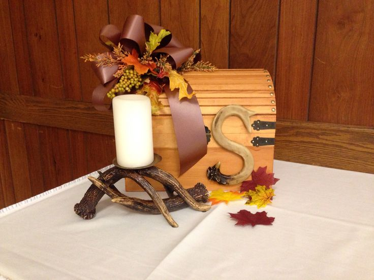Fall Wedding Gift Card Box : Antler Fall Wedding Card Box Gift Table Wedding Stuff Pinterest