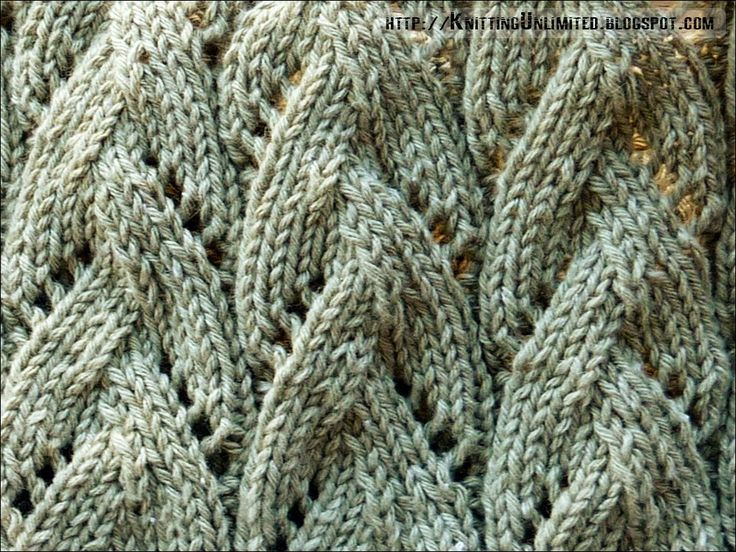 Braided Lace Knitting Stitch knitting Pinterest