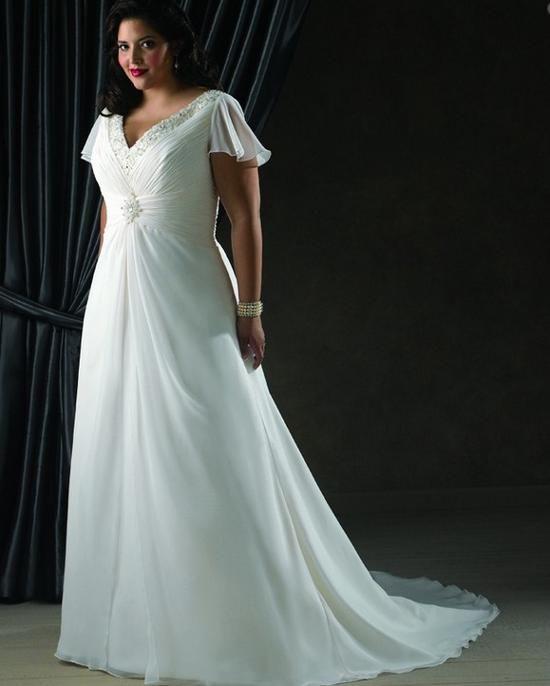 vestido de noiva para gordinhas broche