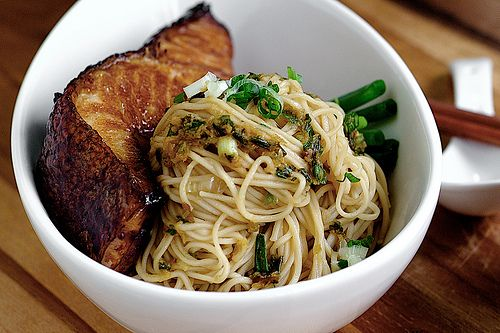 cod teriyaki and ginger scallion noodles....this is a wordy blog...but ...