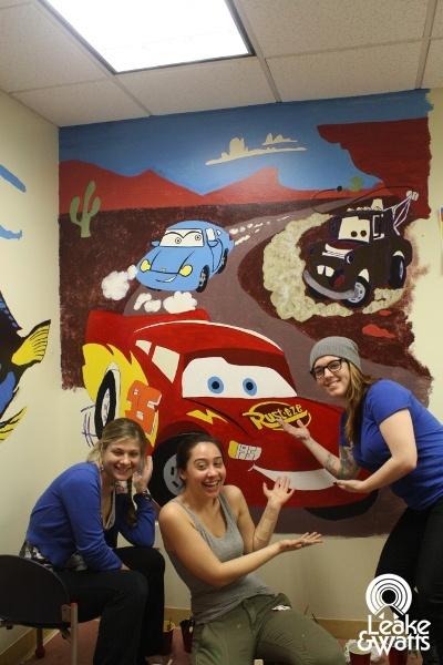 Pin by leake watts on leake watts volunteers pinterest for Character mural