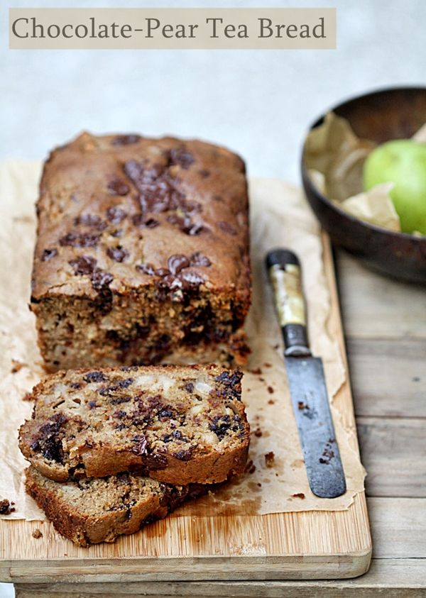 Baking & Book Review | Chocolate-Pear Tea Bread for Bread Baking Day ...