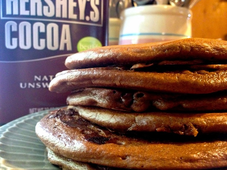 Chocolate Gingerbread Pancakes with Chocolate Chips from HammockTracks