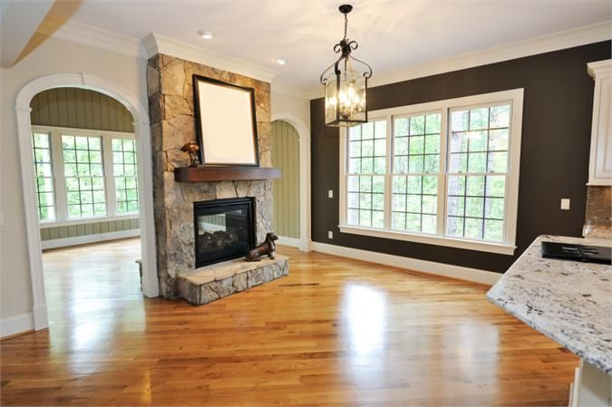 Double Sided Fireplace In Living Room Fireplace Pinterest