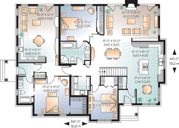 In law suite house plan Home plans with inlaw apartment
