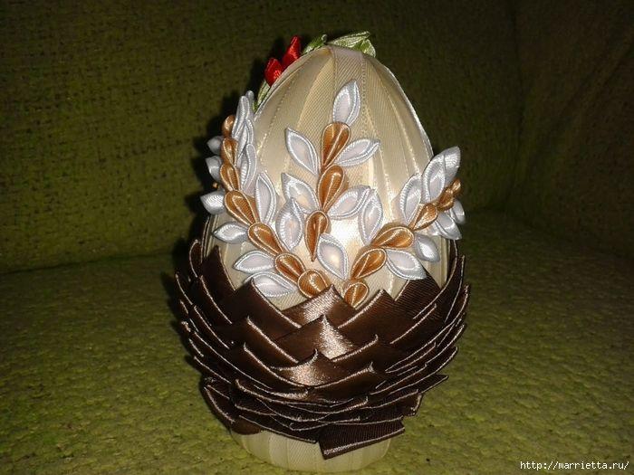 Мастер класс канзаши пасхальное яйцо