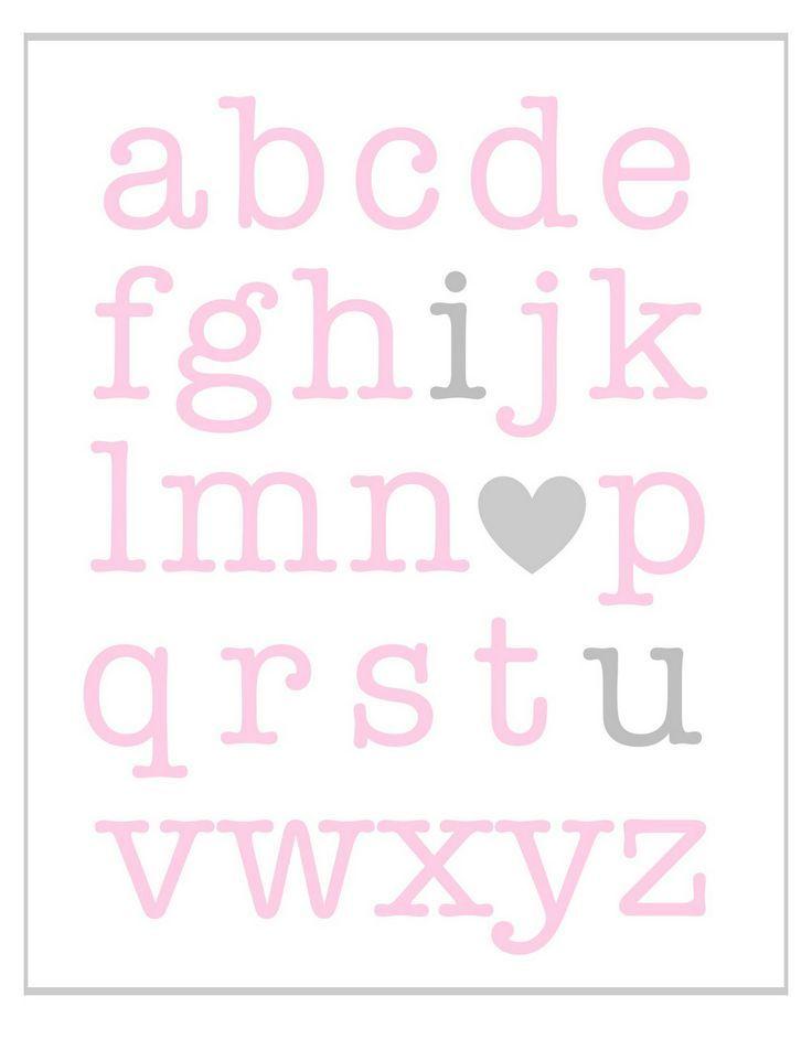 valentine's day alphabet words