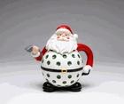 """Santa plays Golf"" Christmas Teapot"