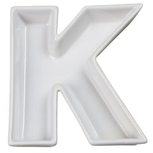 Ivy Lane Design Ceramic Love Letter Dish, Letter K, White Ivy Lane ...