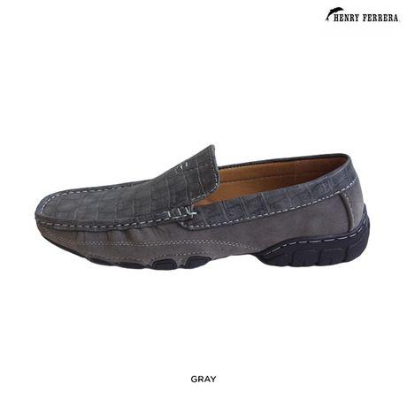 Henry ferrera men s croc textured driving shoes assorted colors