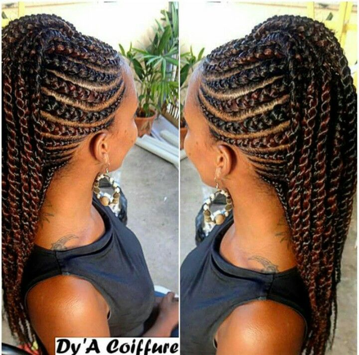 how to do weave : braids to the side more braided cornrow hairstyles faux hawk ...