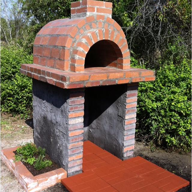 Pin by megan wilkins on for the home pinterest - How to build an outdoor brick oven ...