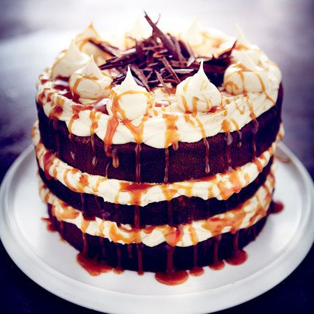 Six Layer Chocolate Cake Filled With Salted Caramel