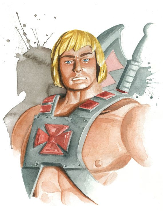 Masters of the Universe Classics watercolor art print  by JAWart, $12.00