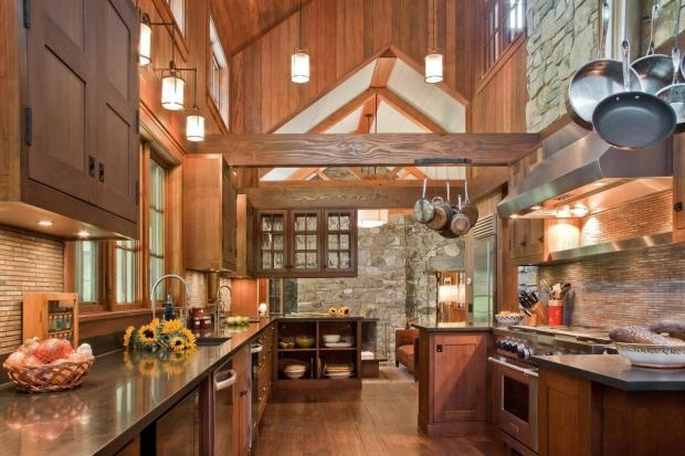 Cathedral ceiling in the kitchen home design pinterest for Kitchen designs with cathedral ceilings