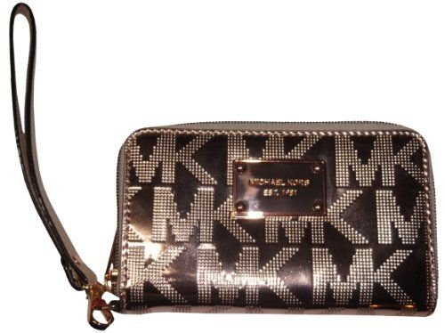 Michael Kors Multi Function Electronics Phone Case Wristlet Rose Gold ...