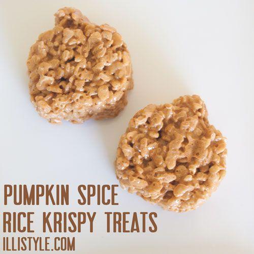 pumpkin spice rice krispy treats - illistyle.com