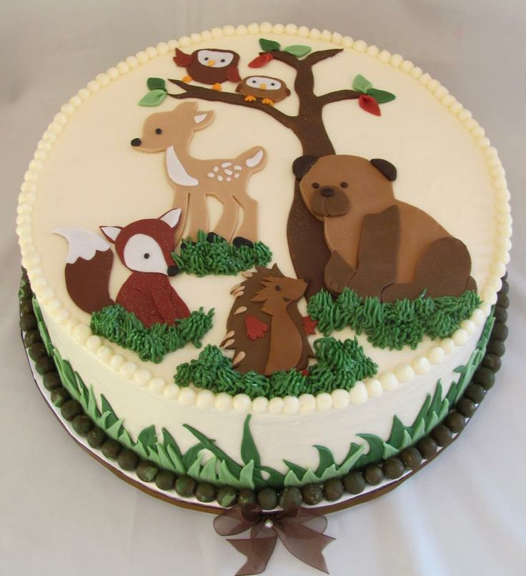 woodland animals baby shower cake idea julie schkade
