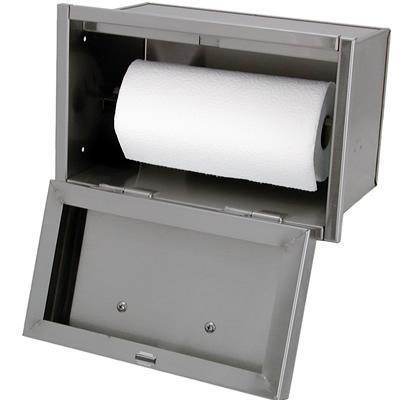 Outdoor paper towel holder primitive outdoor kitchen for Outdoor towel caddy