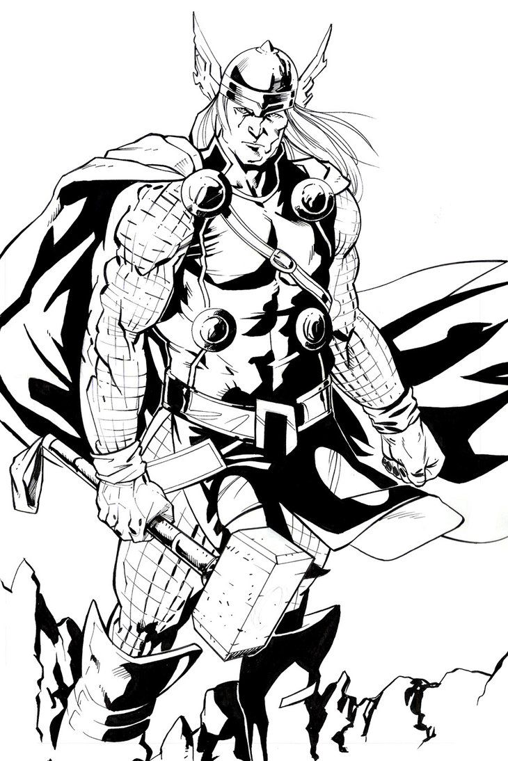 Line Art Marvel : Thor rafael de latorre s universe pinterest
