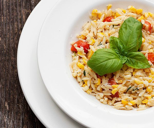 orzo with corn and tomatoes | EAT | Pinterest