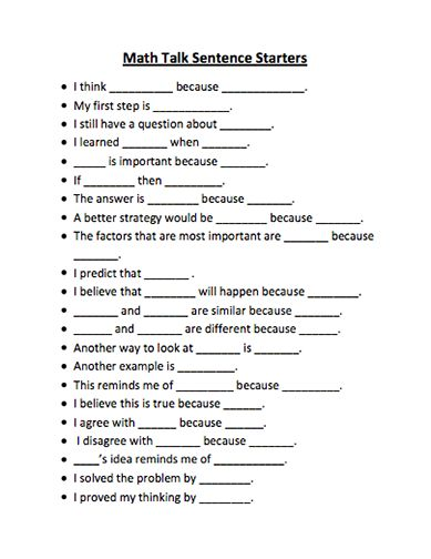 Reflective essay sentence starters for middle school