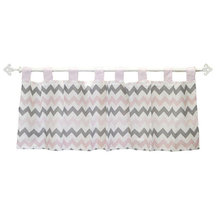 My baby sam pink chevron curtain valance overstock com shopping