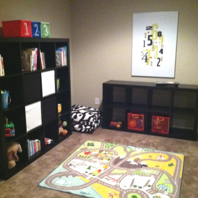 Ikea playroom getting this play rug and the smaller shelf for our