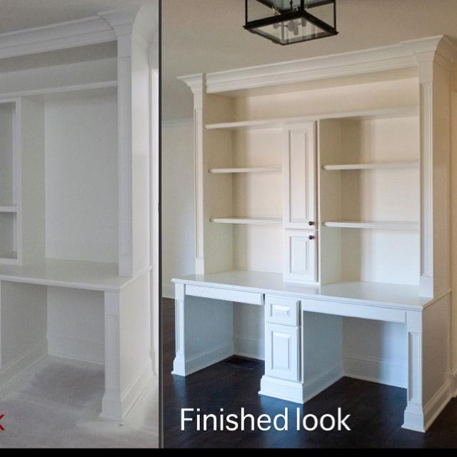 Built in double desks | Office/homework Ideas | Pinterest