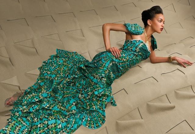 My dream wedding dress pintowin green vlisco