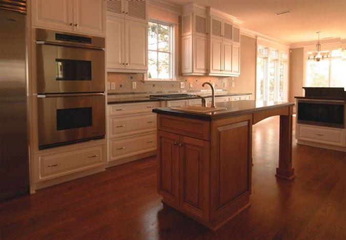 stained kitchen island  Dream Home  Pinterest