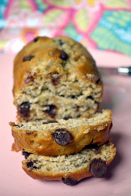 Super Soft Chocolate Chip Sour Cream Banana Bread- sounds very similar ...