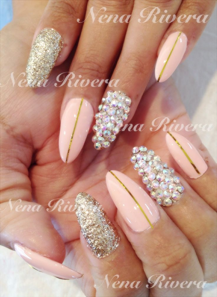 Very short square acrylic nails
