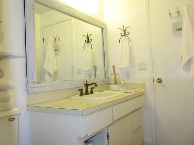 Molding around bathroom mirror bathroom ideas pinterest for Molding around mirror bathroom