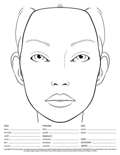 10 blank face charts love face charts pinterest