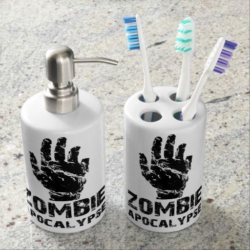 Rzfs bathroom set rzfs zombie apparels and accessories pinterest