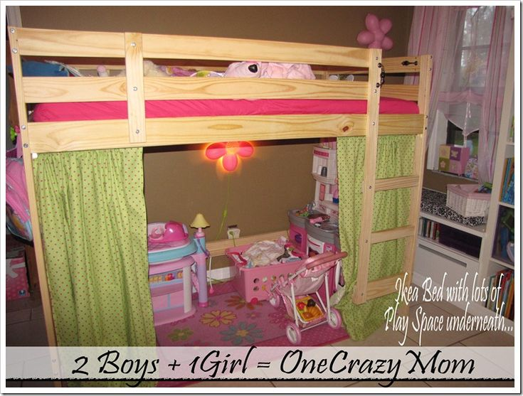 Pinterest for Kids bed with play area
