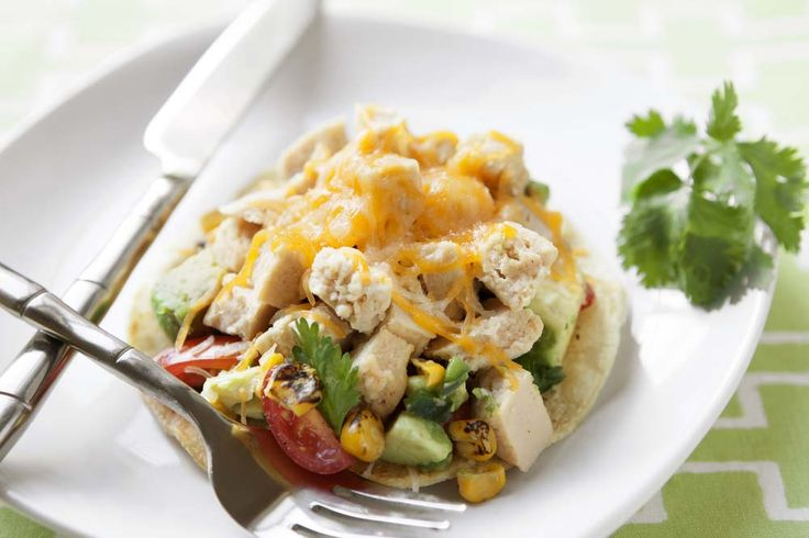 Grilled Chicken Tostadas! | Get Snackin' | Pinterest