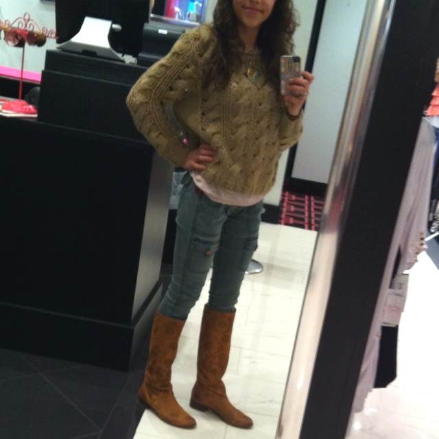 Rich n skinny jeggins, lush sweater with matisse boots
