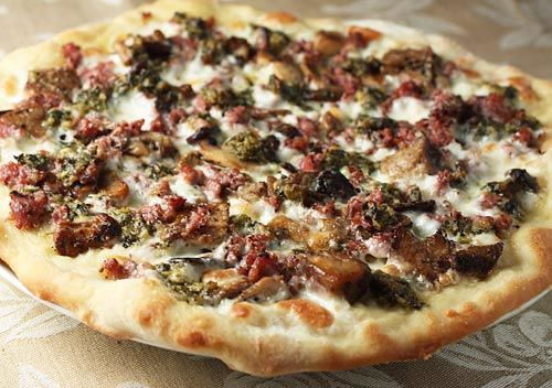 PORCINI, SAUSAGE, AND BLACK TRUFFLE PIZZA http://www ...