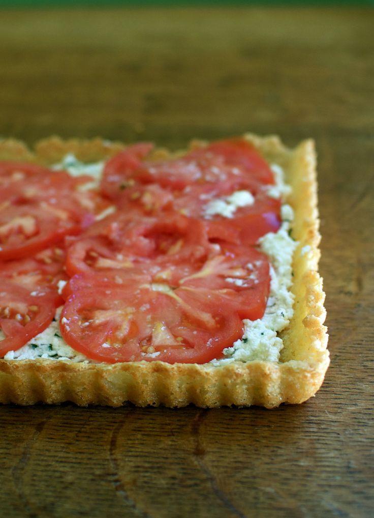 Gluten-Free Heirloom Tomato Tart with Pecorino Crust | Recipe
