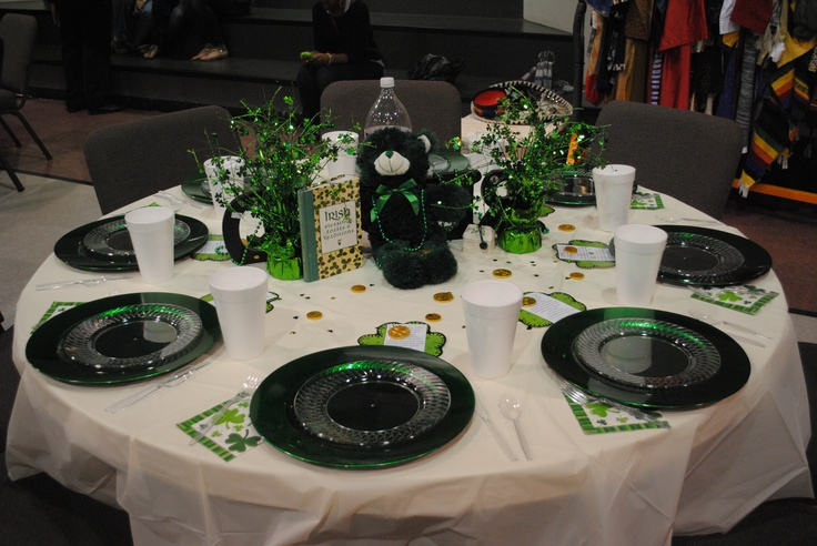 Irish table decoration home decor pinterest for Irish home decorations