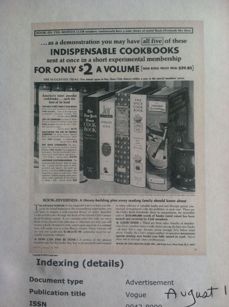 Book of the Month Club 1969 featured these 5 indispensible cookbooks for $2 each. FT library owns them all.