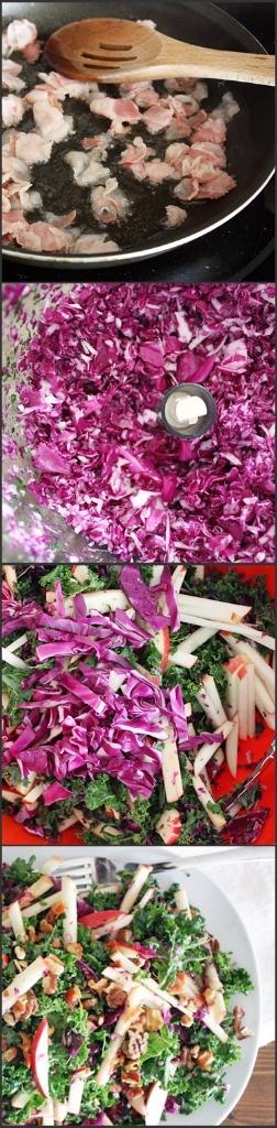 Kale, Apple & Pancetta Salad