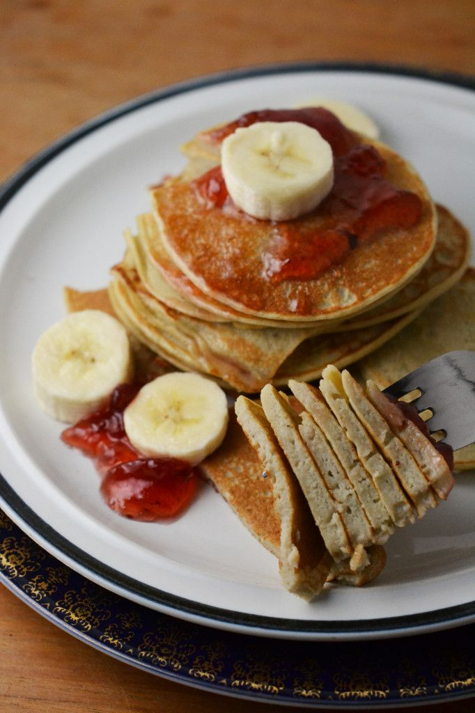 My mom used to make a version of these...Cottage Cheese Pancakes