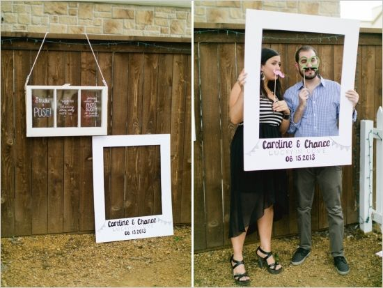 giant polaroid frame fun photo booth photography weddings